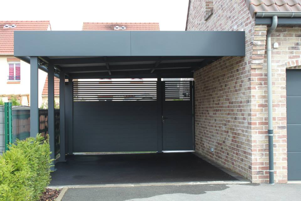 le chantier carport aluminium de la semaine. Black Bedroom Furniture Sets. Home Design Ideas